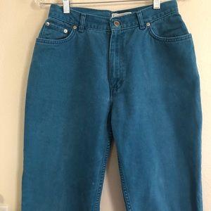 VINTAGE turquoise high waist minimalist jeans